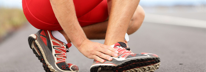 suffering from sprain or strain injury plantar fasciitis